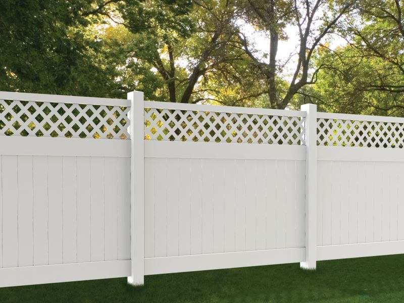 Popular Commercial Vinyl Fence Style Selected by our Georgia and South Carolina Residents