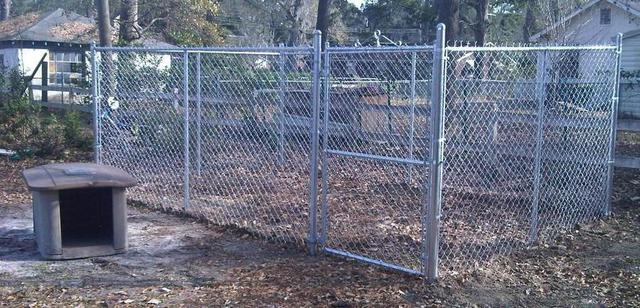 Residential chain link fencing in Georgia